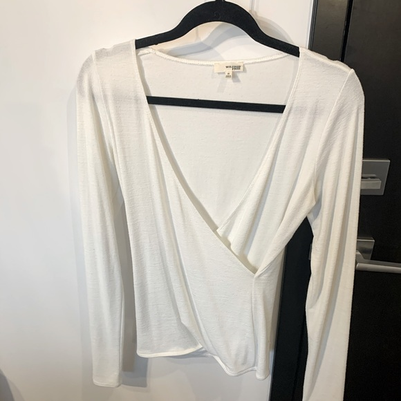 Wilfred Free white wrap long sleeve